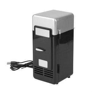 Black ABS 194*90*90mm Energy Saving and Eco-Friendly 5V 10W USB Car Portable Mini Drink Cooler Car Boat Travel Cosmetic Fridge