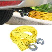 Heavy Duty 3Tons Car Tow Cable Towing Pull Rope Strap Hooks Van Road Recovery Eagle Hook / U-Hook Towing Ropes
