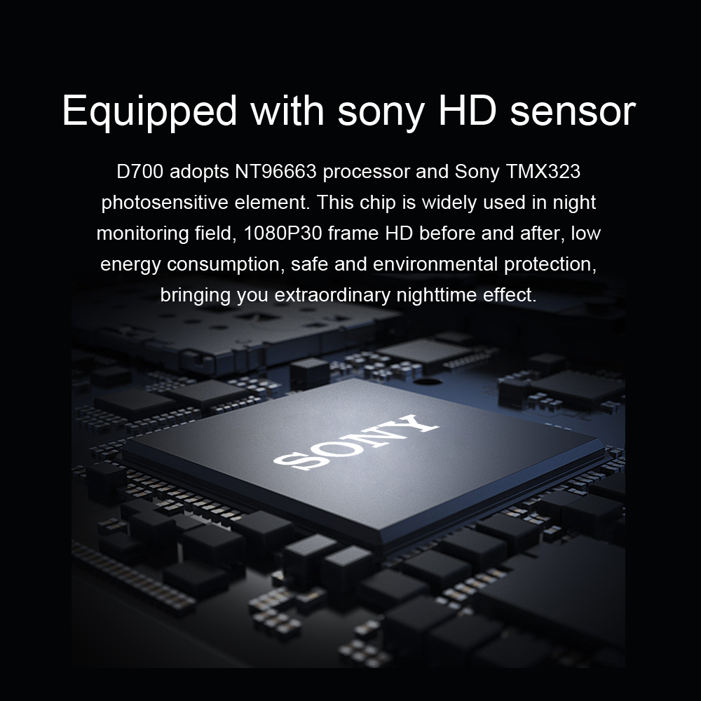 Aiba J07 WIFI Dual Lens Sony IMX323 Dash Cam Novatek 96663 Chip Sensor Night Vision Dual Camera Dash Cam 24H Parking 4k 2160p 3