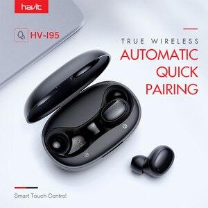 HAVIT i95 Bluetooth наушники с сенсорным управлением, шумоподавляющая гарнитура FreeRole HD стерео беспроводные наушники, Прямая поставка