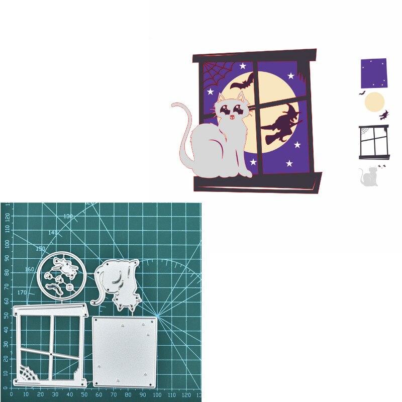 Halloween Metal Cutting Dies Stencil DIY Scrapbooking Embossing Paper Card Craft