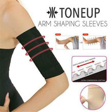 Tattoo Sleeve ToneUp Arm Shaping Sleeves Women Elastic Shaperwear Slimming 420D Wrap Belt Black Arm Warmers Shaping Sleeves z2(China)