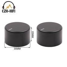 2 pçs botão de áudio do potenciômetro 35x22mm cnc usinado fosco sólido alumínio interruptor controle volume botão para cd dac amplificador rádio diy