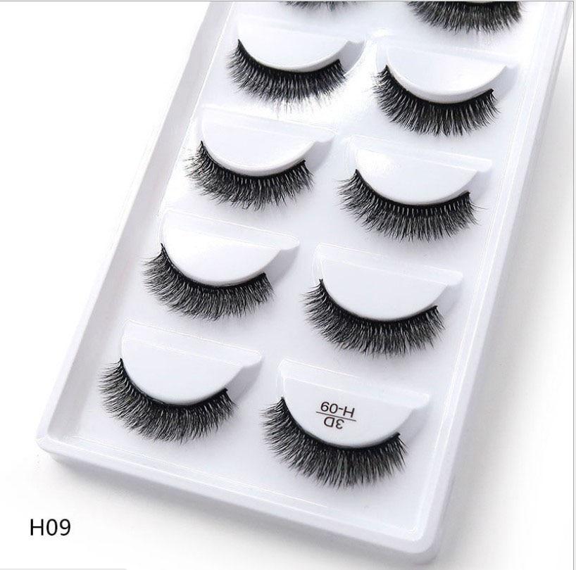 250 pairs of 50 boxes Eyelashes 3d mink eyelashes natural long Mink eyelashes 1cm 1 5cm