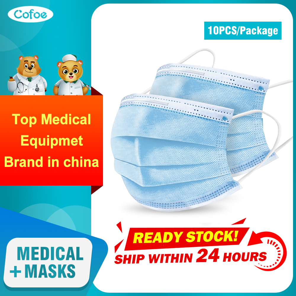 Cofoe Disposable Medical Mask 3 Layer Filter Non-woven Fabrics Mask