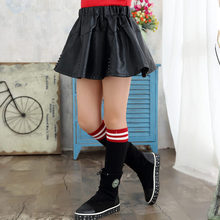 цена на Fancy Girls Leather Skirts With Crystal Kids Leather Mini Skirt for Girl Age 4 5 6 7 8 9 10 11 12 13 Years Old