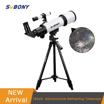 hd large aperture 76mm newtonian reflector astronomical telescope 350 times zooming reflective for space observation f76700 SVBONY SV501 70420 F6 HD  professional astronomical telescope night vision deep space star view moon view Monocular Telescope