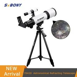 SVBONY SV501 70420 F6 HD professional astronomische teleskop nachtsicht deep space star view mond ansicht Monokulare Teleskop