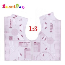 10 Sets /Lot Mini Fashion Ruler 1:3 Clothing Drawing Ruler for Doll Wholesale