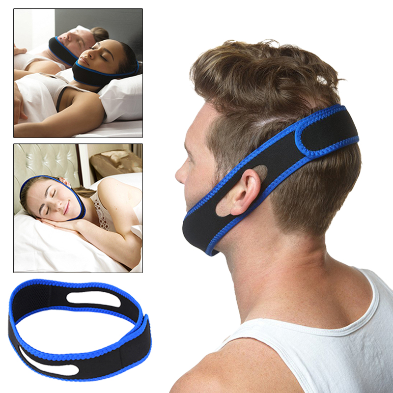 Health Care Anti Snore Chin Strap Mouth Guard Bandage Stop Bruxism Snoring Aid Snore Chin Strap Women Men Aid Sleeping Belts 1