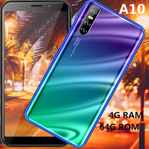 A10 smartphones 4GRAM 64G ROM quad core 13MP big screen 18:9 IPS celulares Face ID unlocked WCDMA Android mobile phones 2SIM
