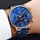 2019 LIGE, новые синие кварцевые часы, мужские Модные Бизнес водонепроницаемые часы из стали, мужские многофункциональные часы с большим циферб...