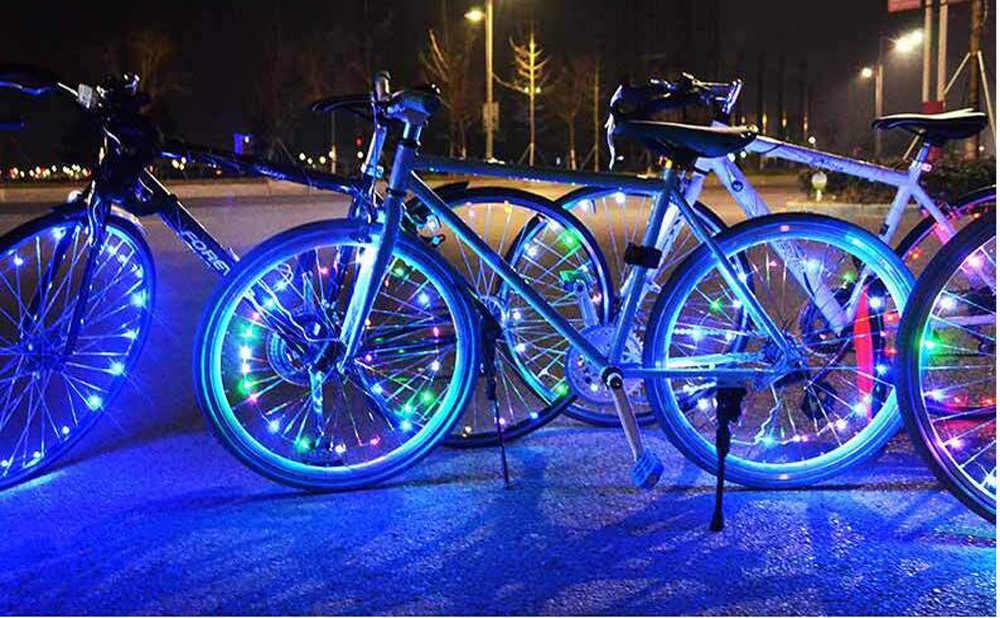 20 lampes LED pour vélo VTT lumière rayon roue lampe vélo accessoires vélo chaud accessoires
