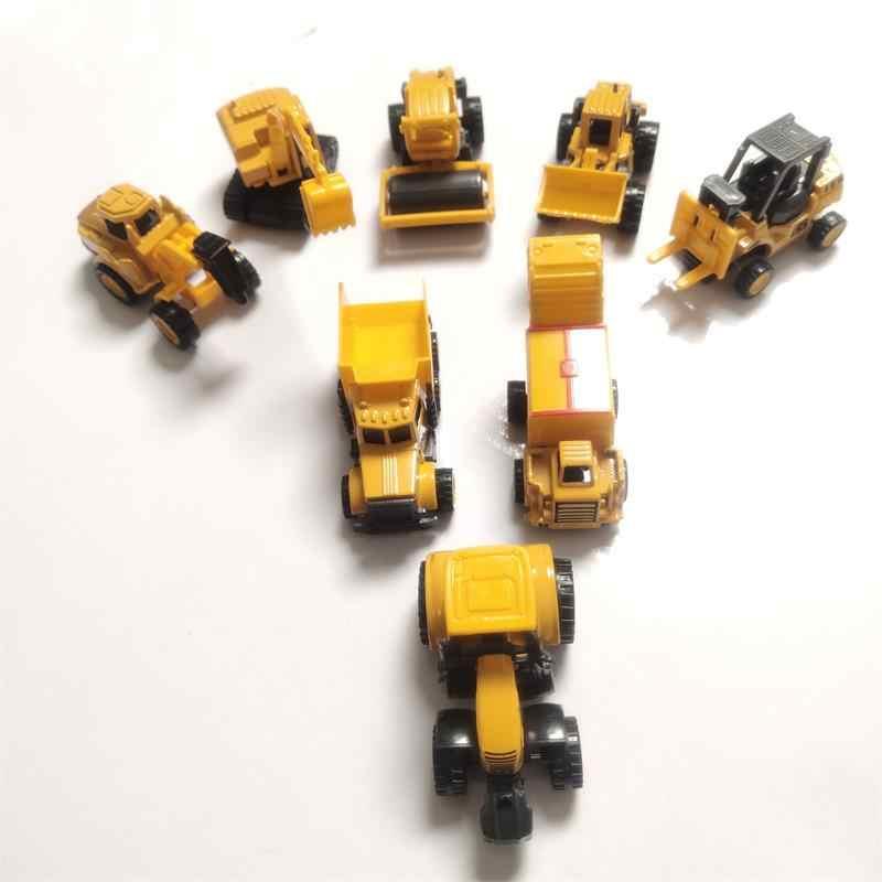 Mainan untuk Anak 8 Gaya Mini Mobil Diecast Paduan Model Mobil Teknik Kendaraan Mainan Dump Truck Forklift Traktor Excavator