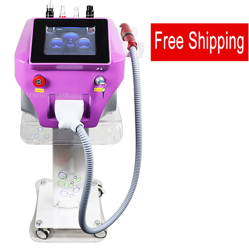 Portable Nd Yag Laser Picosure Picosecond Laser With Carbon Peel Skin Whitening Tattoo Removal Machine Free Shipping
