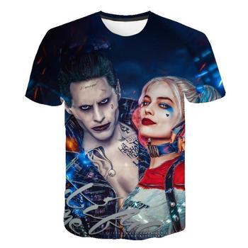 T Shirt Suicide Squad Womens Mens Harley Quinn The Joker T Shirts Man 3D T Shirt Black Red Short Sleeve Clothes streetwear недорого
