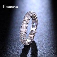 Emmaya-bague blanche de luxe pour femmes, bijoux élégants, à la mode, bague de luxe blanc, pour fête de mariage, nouveauté