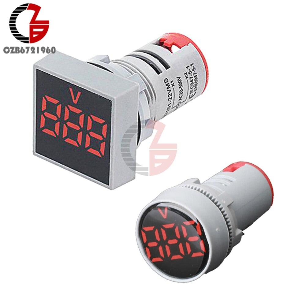 СВЕТОДИОДНЫЙ цифровой измеритель напряжения переменного тока 20-500 В, вольтметр 110 В 220 В, индикатор напряжения электричества, тестер, детекто...