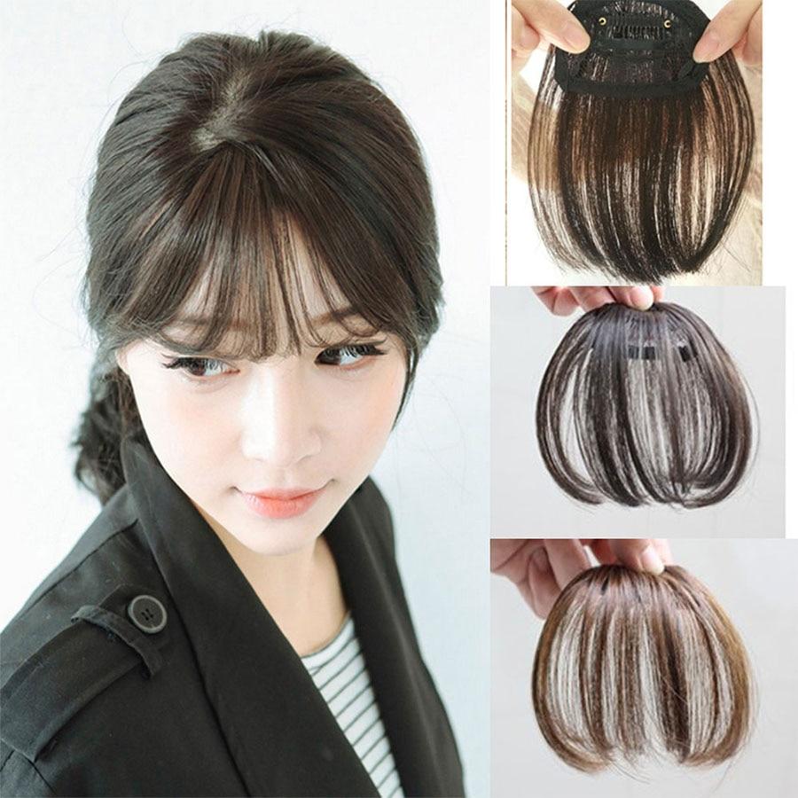 Synthetic Short Bangs Hair Heat Resistant Synthetic Women Natural Short Hair Bangs Women Hair Pieces Headwear