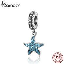 BAMOER, подвеска в виде морской звезды, 925 пробы, серебро, морское создание, океан, подвески для браслета, S925, хорошее ювелирное изделие SCC1210