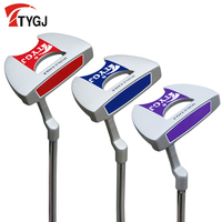 TTYGJ Genuine Driving Golf Men's Club Blue/Purple Putter with Sight Large Grip Women's Golf Semi Colo Club High Strike Stability
