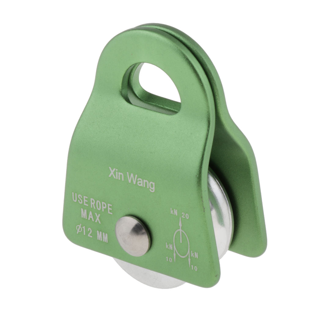 Fixed Sideplate Pulley High Hauling Gear Max. 12mm Rope for Rock Climbing