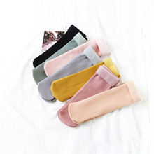 7 Color Plus Velvet Socks Women High Quality Thick Keep Warm Sox Durable Soft Sleeping Snow Female Winter Casual