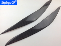 100% real Carbon Fiber Headlight Cover Eyebrows Eyelids for BMW F10 F11 M5 2010 2014