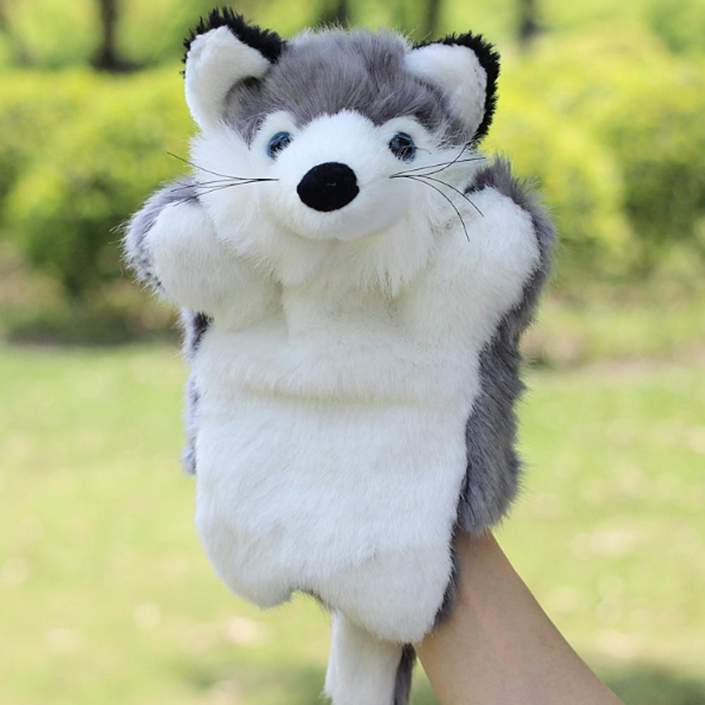Cute Fox Hand Puppet Cartoon Plush Toys Baby Educational Animal Hand Puppets Pretend Telling Story Doll Toy for Children Kid