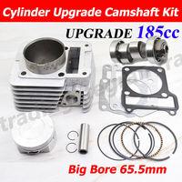 Motorcycle Cylinder Camshaft Kit 65.5mm Big Bore For Yamaha YBR125 YBR 125 XTZ125 YB125Z YBR XTZ 125 185cc Modified Engine