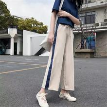 Брюки женские шифоновые с широкими штанинами уличная одежда