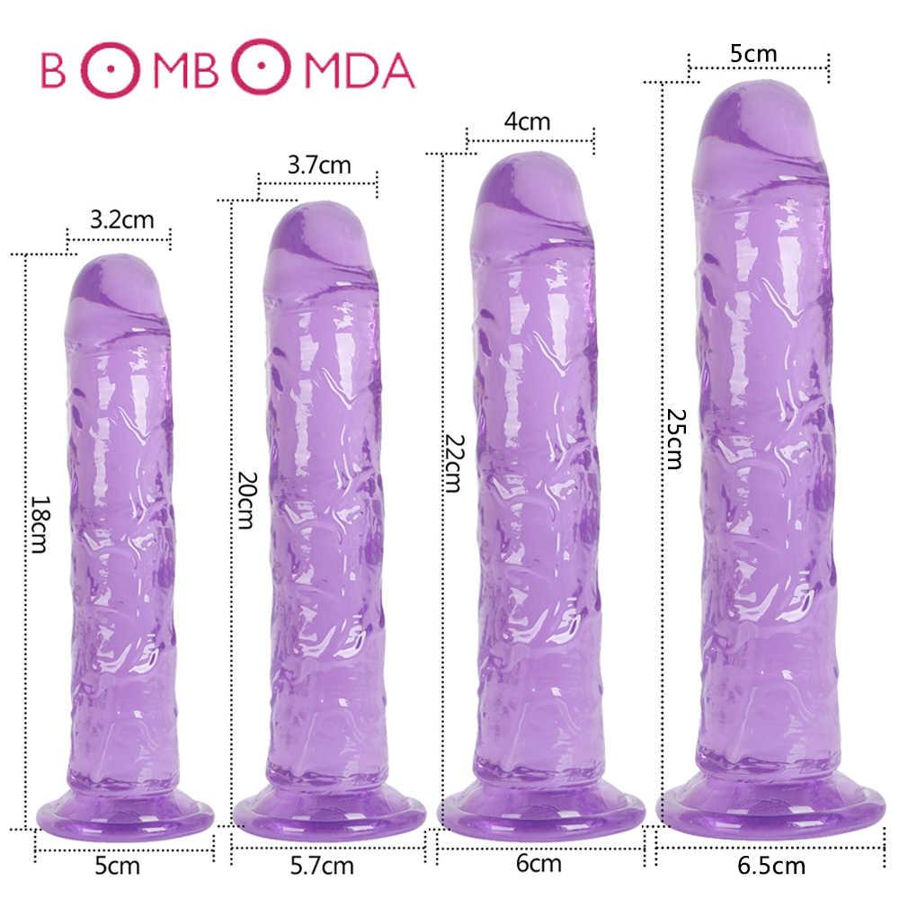 Erotische Soft Jelly Dildo Anale Butt Plug Realistische Dick Sterke Zuignap Volwassen Speelgoed G-Spot Orgasme Grote Penis speeltjes Voor Vrouw