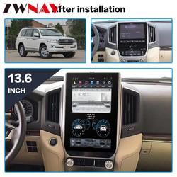 Vertikale bildschirm Tesla stil Android 8.1 Auto multimedia-player für TOYOTA LAND CRUISER LC200 2016-2019 auto radio stereo kopf einheit