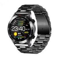 Business Smart Watch per uomo Touch Screen bracciale in acciaio moda cardiofrequenzimetro Monitor per la pressione sanguigna Sport Smartwatch 2021