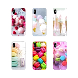 Soft Transparent Skin Case dessert ice cream laduree Macarons For Xiaomi Mi4 Mi5 Mi5S Mi6 Mi A1 A2 A3 5X 6X 8 CC 9 T Lite SE Pro