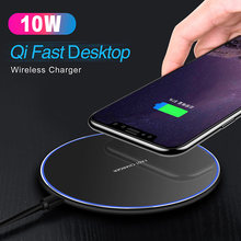 Baseuer 10W Fast Wireless Charger For Huawei Samsung Galaxy S9 S8 S7 Note 9 S7 USB Qi Charging Pad for iPhone XS Max XR X 8 Plus(China)