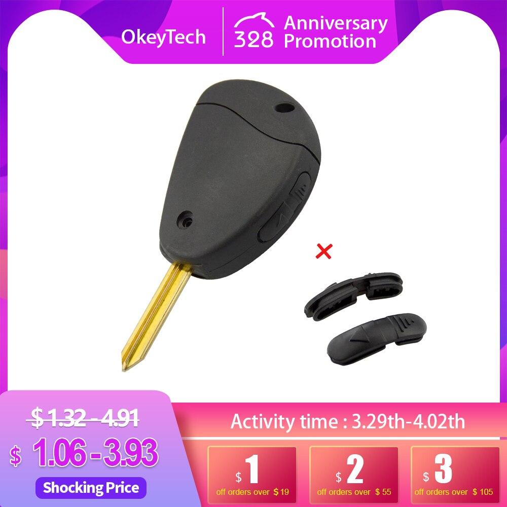OkeyTech 2 кнопки, новый пульт дистанционного управления, чехол для ключей для Citroen Evasion Synergie Xsara xtia, боковой чехол, чехол с запасной кнопкой