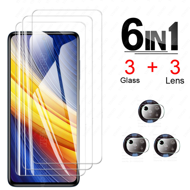 For Poco X3 Pro Screen Protector Glass for Xiaomi Poco X3 Pro Tempered Glass for Poco F3 M3 X3 Nfc Pro X3pro Camera Lens Glass 2