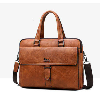 Brand Men Tote Casual Briefcase Business Shoulder Man Bag Brown Leather High Quality Messenger Bags Laptop A4 Files Bolso Hombre