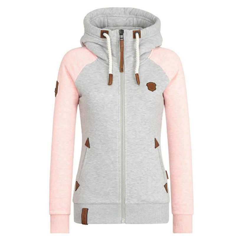2019 Autumn Women Solid Color Hooded Coat Windbreaker Female Zipper Windproof Outerwear   Basic     Jacket   Coat Tops Plus Size S-5XL