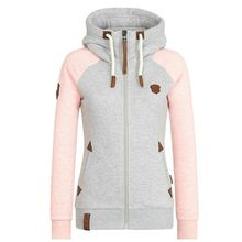 2019 Autumn Women Solid Color Hooded Coat Windbreaker Female Zipper Windproof Outerwear Bas