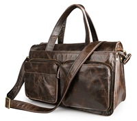 Fashion Men's Bag Full grain Leather Men Retro Package Leather Travel Bag Hand Single shoulder Crossbody Bag 7138
