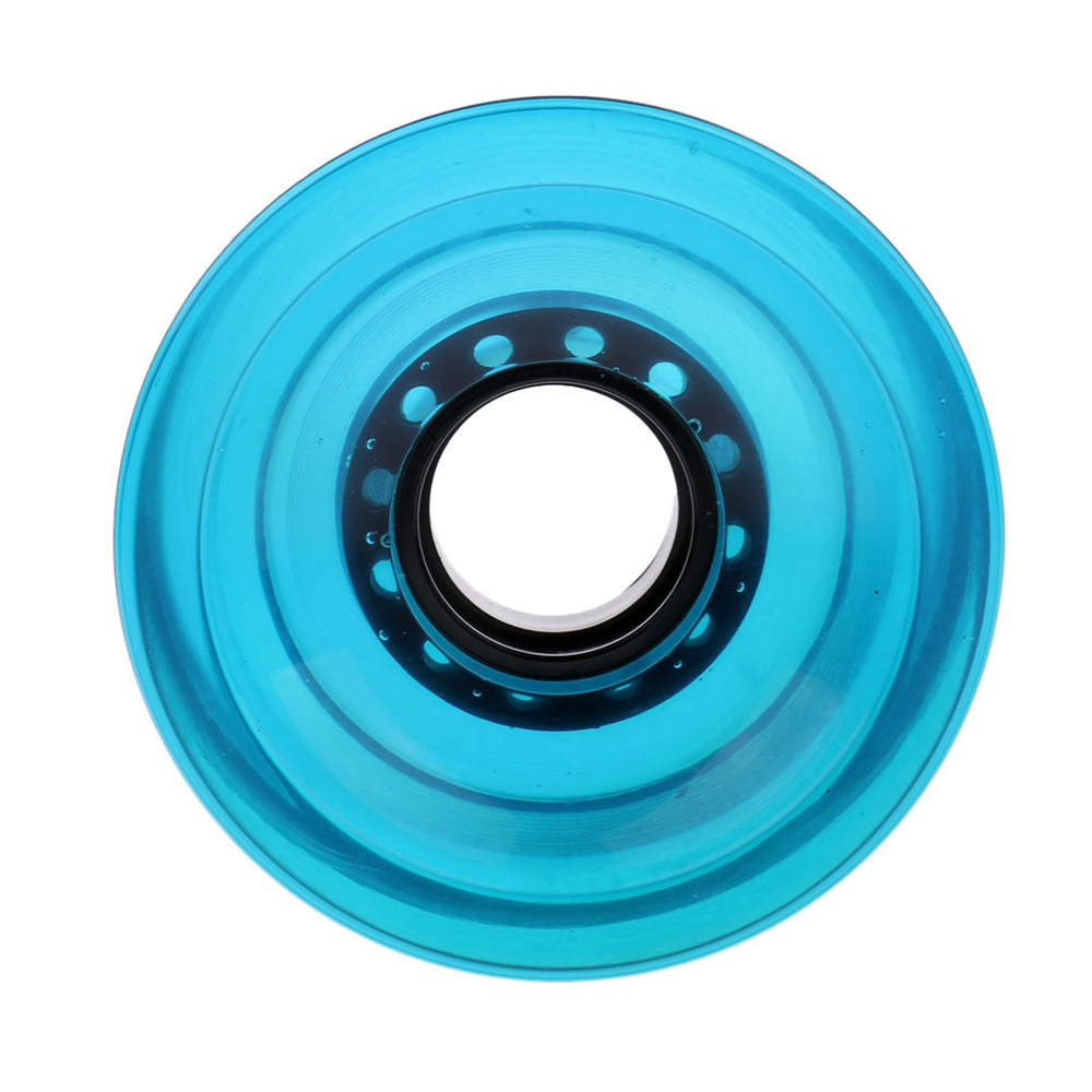 Blank Longboard Cruiser Skateboard Wheels 60*45mm80a Translucent Blue