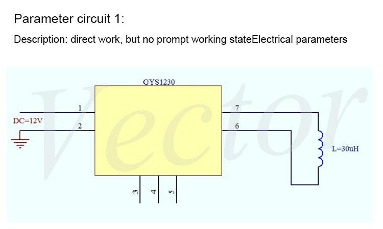 Новый беспроводной зарядный модуль с защитным ремнем индикатор беспроводной модуль питания имеет схему GYS1230