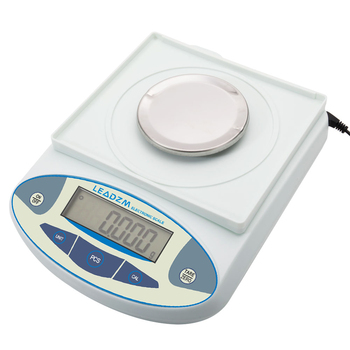 Newest LEADZM  B3003T 300g / 0.001g Portable Electronic Balance Laboratory Scale White