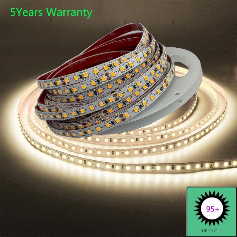 CRI 95+ 5 Years Guarantee LED Strip Lights 5m 24V 12V 120LED/m IP20 For LED Room Lights