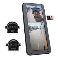 12,3 zoll Parkplatz AHD Elektronische vertikale bildschirm monitor mit dual objektiv seite rückansicht kameras kit