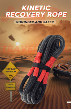 nylon covered 3 8cmx9 meter 1 5x30 combat rope muscle power training rope tug of war rope Black 3/4*30ft Energy Recovery Rope,Towing Rope, Kinetic Recovery Rope,Double Braided Nylon Rope