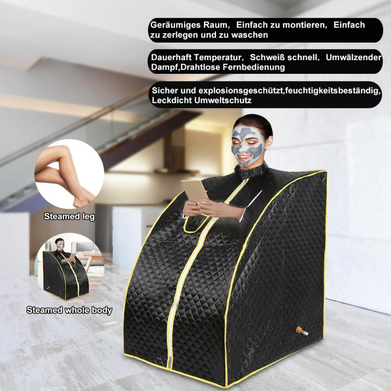 Portable Therapeutic Steam Sauna Spa Room Home Beneficial Full Body Slim Detox Weight Loss Indoor Folding Detox Therapy Steam