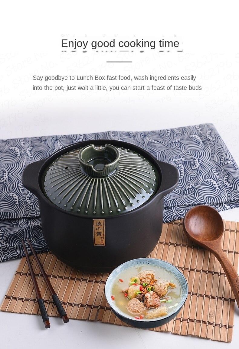 Japonês clássico e vento vitrificado caçarola sopa
